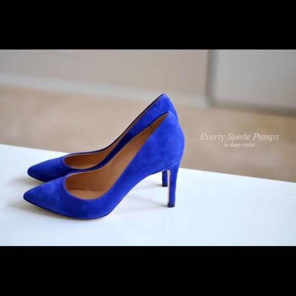 a2f23a0b0f42c J. Crew Shoes | J Crew Everly Suede Blue High Heels | Poshmark